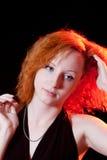Portrait of redhead woman Stock Image