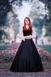 Portrait of redhead woman stock photos