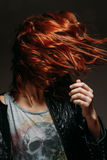 Portrait of a redhead woman royalty free stock photography