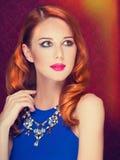 Portrait of redhead women Stock Image