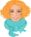 Portrait of redheaded girl Stock Photos