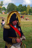 Portrait of a reenactor from Napoleons army Stock Images