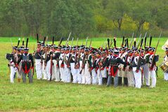 Portrait of reenactors dressed as Napoleonic war soldiers Stock Photography