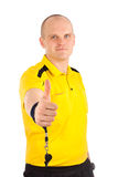 Portrait of a referee thumbs up Royalty Free Stock Photo