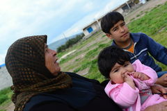 Portrait of refugees Stock Photography