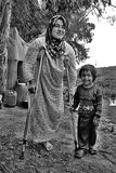 Portrait of refugees Royalty Free Stock Images