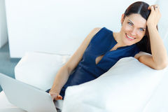 Portrait of Relaxed Business Woman at Office Stock Images