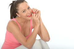 Portrait of a Relaxed Happy Attractive Young Woman Royalty Free Stock Photo