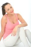 Portrait of a Relaxed Happy Attractive Young Woman Royalty Free Stock Image