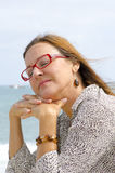 Portrait of relaxed senior woman Royalty Free Stock Photography