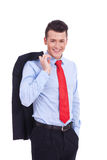 Portrait of relaxed young business man Stock Photos