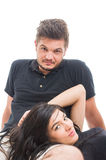 Portrait of a relaxed young and happy couple Royalty Free Stock Images