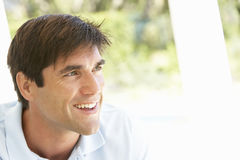 Portrait Of Relaxed Young Man Stock Photo