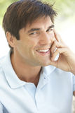 Portrait Of Relaxed Young Man Royalty Free Stock Image