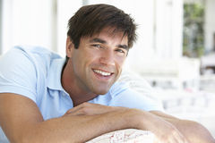 Portrait Of Relaxed Young Man Royalty Free Stock Photos