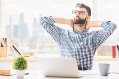 Portrait of relaxing man Stock Images