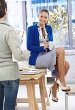 Portrait of relaxing pretty businesswoman Royalty Free Stock Photos