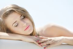 Portrait of relaxing young woman Stock Images