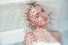 Portrait of a relaxing young woman Stock Image