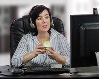 Portrait of remote clinical dietitian Royalty Free Stock Photos