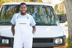 Portrait Of Repairman With Van Stock Photos