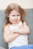Portrait of resentful Caucasian young girl Royalty Free Stock Image