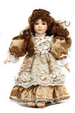 Portrait of retro porcelain doll Royalty Free Stock Images