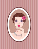 Portrait of retro woman Royalty Free Stock Photos