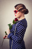 Portrait of retro woman Royalty Free Stock Photography