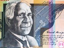 Portrait of Reverend David Unaipon from Australian 50 dollar stock photography