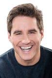 Portrait riant d'homme bel mûr Images libres de droits