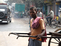 Portrait of a rickshaw driver Stock Images
