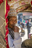 Portrait of rickshaw old man Stock Photo