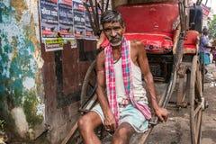 Portrait of a Rickshaw wallah Stock Photos