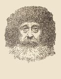 Portrait of Robert Peary, artic explorer stock photo