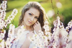 Portrait of romantic blond young woman Royalty Free Stock Photo