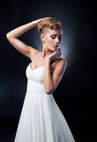 Portrait of romantic blonde young bride Royalty Free Stock Photo