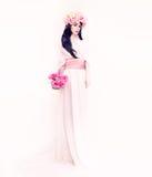 Portrait of a romantic bride lady Stock Photography