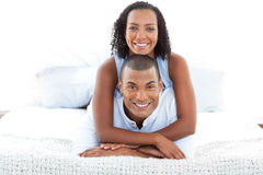 Portrait of a romantic couple cuddling Royalty Free Stock Photography