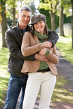 Portrait Of Romantic Couple Enjoying Outdoor Walk Royalty Free Stock Photos
