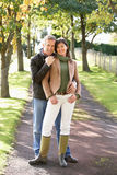 Portrait Of Romantic Couple Enjoying Outdoor Walk Royalty Free Stock Images