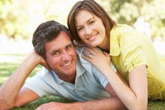 Portrait Of Romantic Couple In Park Royalty Free Stock Image