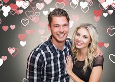 Portrait of romantic couple smiling Royalty Free Stock Images