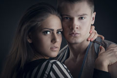 Portrait of romantic couple Stock Images