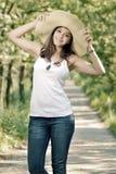 Portrait of romantic girl Stock Images