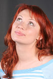 Portrait of romantic redheaded beautiful woman Stock Photography