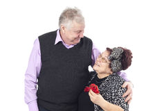 Portrait of a romantic senior couple Royalty Free Stock Image