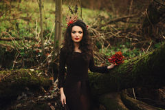 Portrait of romantic woman Royalty Free Stock Images