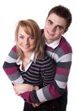 Portrait of a romantic young couple Stock Image