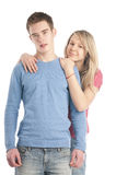 Portrait of a romantic young couple Royalty Free Stock Image